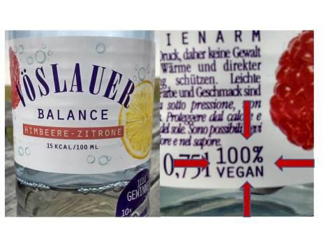 Veganes Mineralwasser